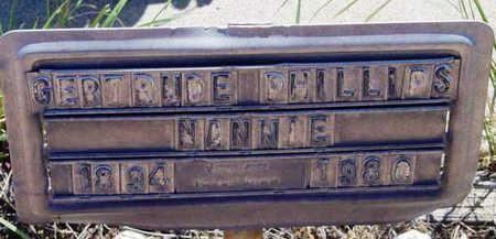 PHILLIPS, GERTRUDE ELEANOR - Yavapai County, Arizona   GERTRUDE ELEANOR PHILLIPS - Arizona Gravestone Photos