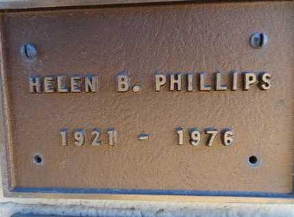 PHILLIPS, HELEN B. - Yavapai County, Arizona   HELEN B. PHILLIPS - Arizona Gravestone Photos
