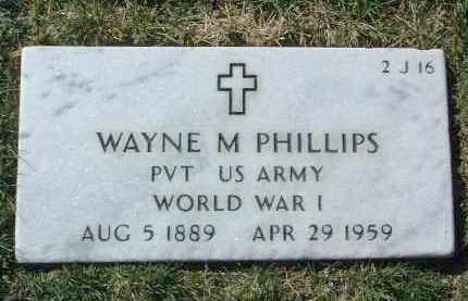 PHILLIPS, WAYNE MARONEY - Yavapai County, Arizona   WAYNE MARONEY PHILLIPS - Arizona Gravestone Photos