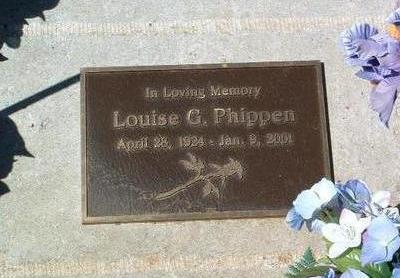 PHIPPEN, LOUISE G. - Yavapai County, Arizona | LOUISE G. PHIPPEN - Arizona Gravestone Photos
