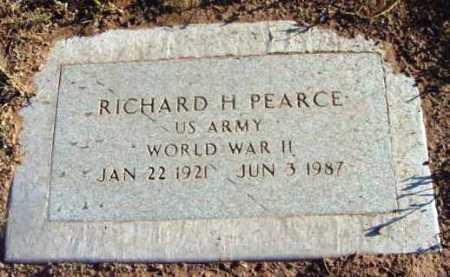 PEARCE, RICHARD H. - Yavapai County, Arizona   RICHARD H. PEARCE - Arizona Gravestone Photos