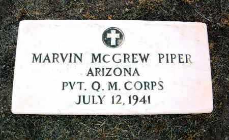 PIPER, MARVIN MCGREW - Yavapai County, Arizona   MARVIN MCGREW PIPER - Arizona Gravestone Photos