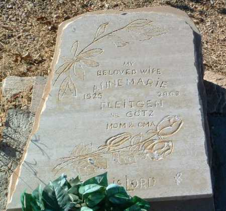 PLEITGEN, ANNEMARIE - Yavapai County, Arizona | ANNEMARIE PLEITGEN - Arizona Gravestone Photos