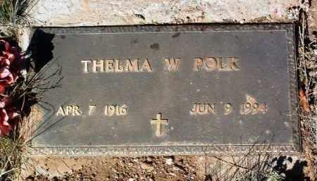 POLK, THELMA W. - Yavapai County, Arizona | THELMA W. POLK - Arizona Gravestone Photos