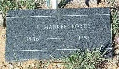 PORTIS, ELMER  MANKER (ELLIE) - Yavapai County, Arizona   ELMER  MANKER (ELLIE) PORTIS - Arizona Gravestone Photos