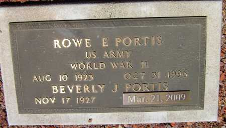 PORTIS, ROWE ELMER - Yavapai County, Arizona | ROWE ELMER PORTIS - Arizona Gravestone Photos
