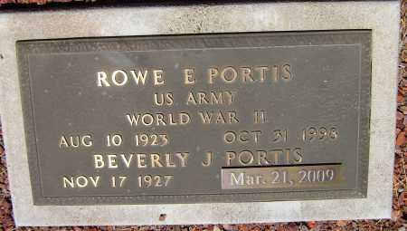 PORTIS, ROWE ELMER - Yavapai County, Arizona | ROWE ELMER PORTIS - Arizona Gravestone Photos