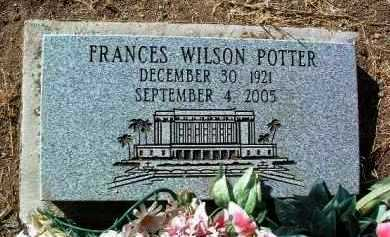 POTTER, FRANCES - Yavapai County, Arizona | FRANCES POTTER - Arizona Gravestone Photos