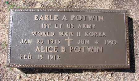 POTWIN, EARLE ARTHUR - Yavapai County, Arizona | EARLE ARTHUR POTWIN - Arizona Gravestone Photos