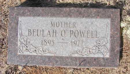 POWELL, BEULAH O. - Yavapai County, Arizona | BEULAH O. POWELL - Arizona Gravestone Photos