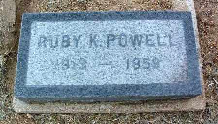 LESSING POWELL, RUBY K. - Yavapai County, Arizona | RUBY K. LESSING POWELL - Arizona Gravestone Photos