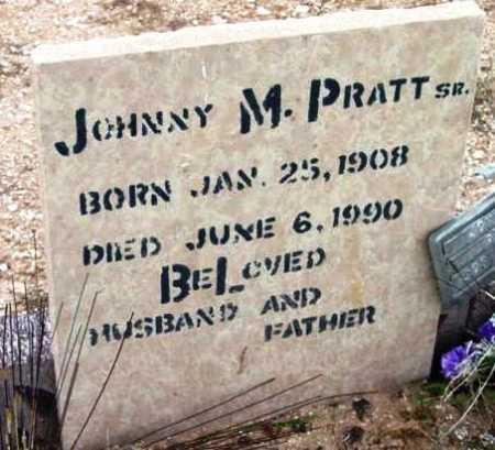 PRATT, JOHNNY M., SR. - Yavapai County, Arizona | JOHNNY M., SR. PRATT - Arizona Gravestone Photos