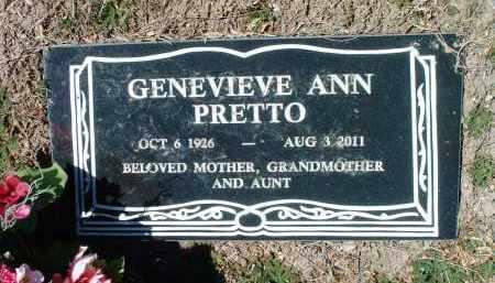 PRETTO, GENEVIEVE ANN - Yavapai County, Arizona   GENEVIEVE ANN PRETTO - Arizona Gravestone Photos