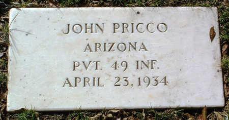 PRICCO, JOHN - Yavapai County, Arizona   JOHN PRICCO - Arizona Gravestone Photos