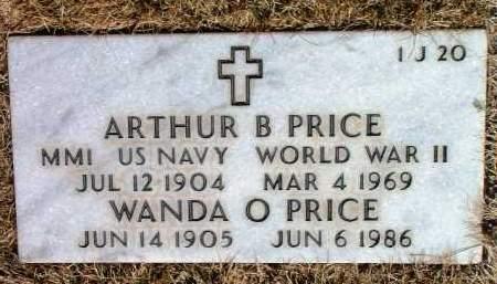 PRICE, ARTHUR B. - Yavapai County, Arizona | ARTHUR B. PRICE - Arizona Gravestone Photos