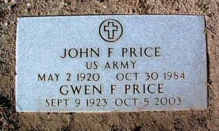 PRICE, JOHN FRANCIS - Yavapai County, Arizona | JOHN FRANCIS PRICE - Arizona Gravestone Photos
