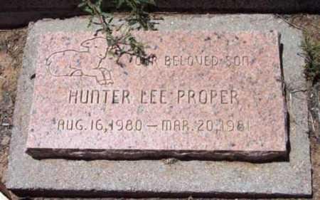 PROPER, HUNTER LEE - Yavapai County, Arizona | HUNTER LEE PROPER - Arizona Gravestone Photos