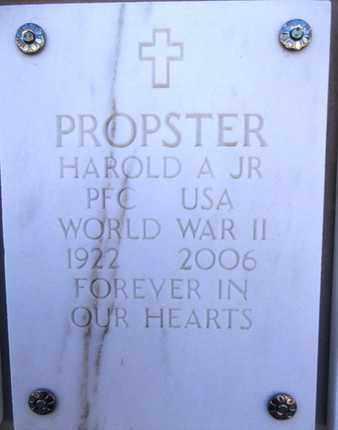 PROPSTER, HAROLD ANDREW - Yavapai County, Arizona | HAROLD ANDREW PROPSTER - Arizona Gravestone Photos