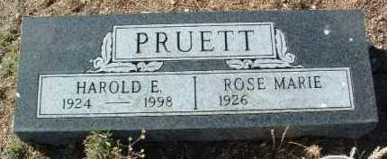 PRUETT, HAROLD E. - Yavapai County, Arizona | HAROLD E. PRUETT - Arizona Gravestone Photos