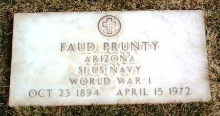 PRUNTY, FAUD - Yavapai County, Arizona   FAUD PRUNTY - Arizona Gravestone Photos
