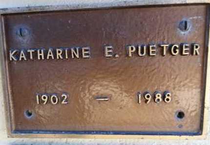 PUETGER, KATHARINE E - Yavapai County, Arizona | KATHARINE E PUETGER - Arizona Gravestone Photos