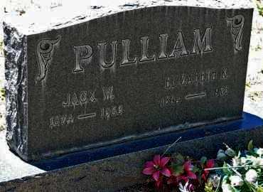 PULLIAM, ELIZABETH K. - Yavapai County, Arizona | ELIZABETH K. PULLIAM - Arizona Gravestone Photos
