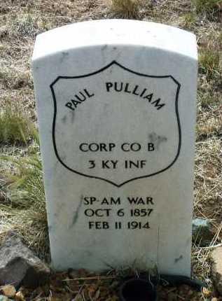 PULLIAM, PAUL - Yavapai County, Arizona   PAUL PULLIAM - Arizona Gravestone Photos