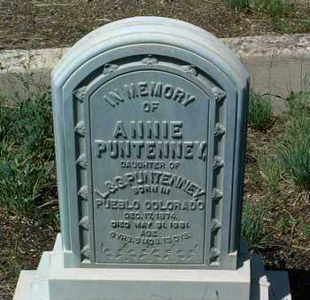PUNTENNEY, ANNIE - Yavapai County, Arizona | ANNIE PUNTENNEY - Arizona Gravestone Photos