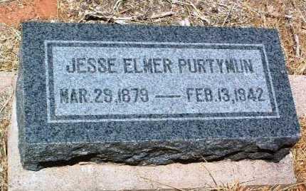 PURTYMUN, JESSE ELMER - Yavapai County, Arizona   JESSE ELMER PURTYMUN - Arizona Gravestone Photos