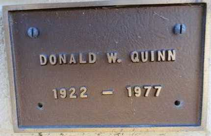 QUINN, DONALD W. - Yavapai County, Arizona | DONALD W. QUINN - Arizona Gravestone Photos