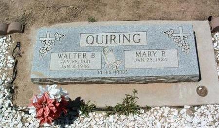 QUIRING, MARY R. - Yavapai County, Arizona | MARY R. QUIRING - Arizona Gravestone Photos