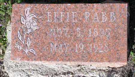 RABB, EFFIE - Yavapai County, Arizona | EFFIE RABB - Arizona Gravestone Photos