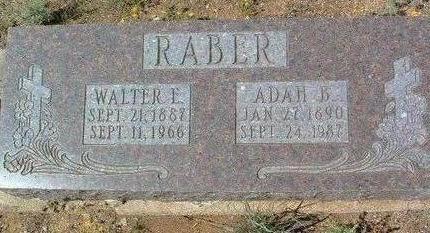 RABER, ADAH BLANCHE - Yavapai County, Arizona | ADAH BLANCHE RABER - Arizona Gravestone Photos