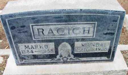 RACICH, MARKO - Yavapai County, Arizona | MARKO RACICH - Arizona Gravestone Photos
