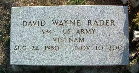 RADER, DAVID WAYNE - Yavapai County, Arizona   DAVID WAYNE RADER - Arizona Gravestone Photos