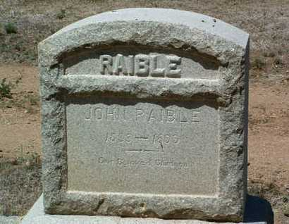 RAIBLE, JOHN R. - Yavapai County, Arizona | JOHN R. RAIBLE - Arizona Gravestone Photos