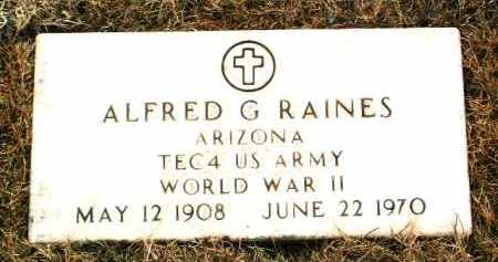 RAINES, ALFRED G. - Yavapai County, Arizona | ALFRED G. RAINES - Arizona Gravestone Photos