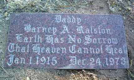 RALSTON, BARNEY ARCHIE - Yavapai County, Arizona | BARNEY ARCHIE RALSTON - Arizona Gravestone Photos