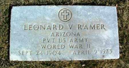 RAMER, LEONARD V. - Yavapai County, Arizona | LEONARD V. RAMER - Arizona Gravestone Photos
