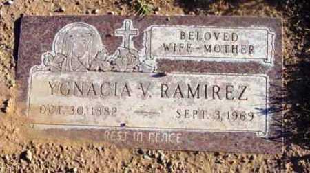 RAMIREZ, YGNACIA V. - Yavapai County, Arizona | YGNACIA V. RAMIREZ - Arizona Gravestone Photos