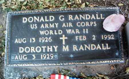 RANDALL, DOROTHY M. - Yavapai County, Arizona   DOROTHY M. RANDALL - Arizona Gravestone Photos