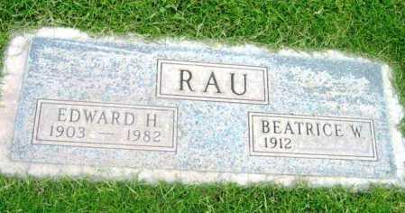 RAU, EDWARD H. - Yavapai County, Arizona | EDWARD H. RAU - Arizona Gravestone Photos