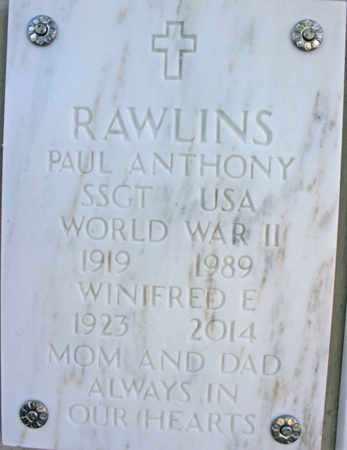 RAWLINS, WINIFRED EVA - Yavapai County, Arizona | WINIFRED EVA RAWLINS - Arizona Gravestone Photos