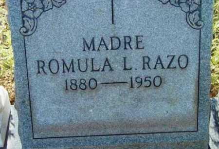RAZO, ROMULA L. - Yavapai County, Arizona | ROMULA L. RAZO - Arizona Gravestone Photos