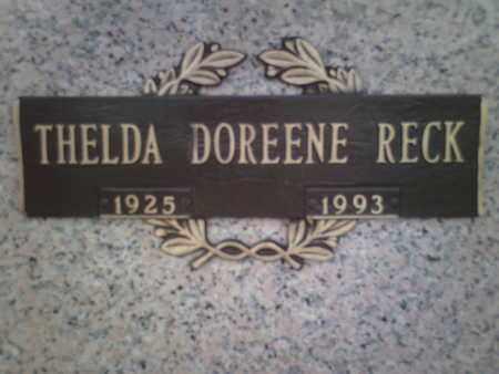 RECK, THELDA DOREENE - Yavapai County, Arizona | THELDA DOREENE RECK - Arizona Gravestone Photos