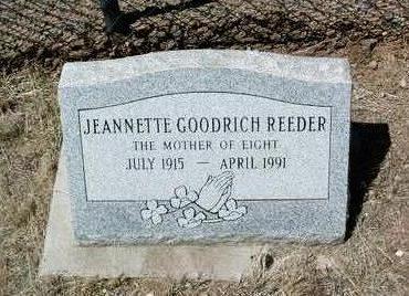 REEDER, JEANNETTE - Yavapai County, Arizona   JEANNETTE REEDER - Arizona Gravestone Photos