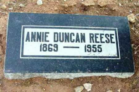 DUNCAN REESE, ANNIE - Yavapai County, Arizona | ANNIE DUNCAN REESE - Arizona Gravestone Photos