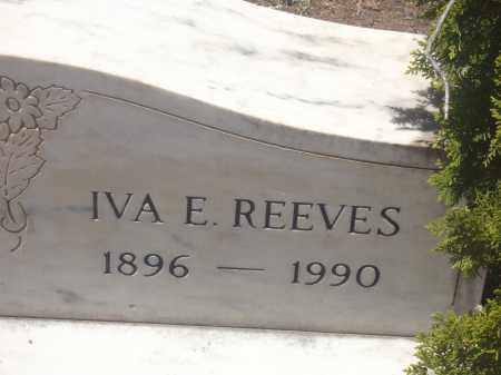 BOWLING REEVES, IVA E. - Yavapai County, Arizona | IVA E. BOWLING REEVES - Arizona Gravestone Photos