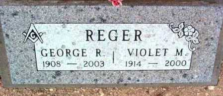 REGER, GEORGE R. - Yavapai County, Arizona | GEORGE R. REGER - Arizona Gravestone Photos