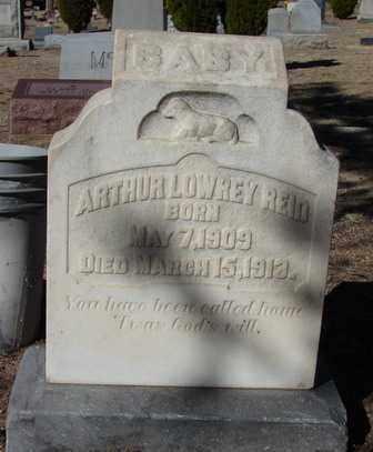 REID, ARTHUR LOWREY - Yavapai County, Arizona   ARTHUR LOWREY REID - Arizona Gravestone Photos
